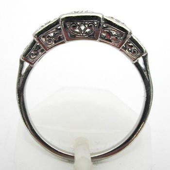 Souvent Bague platine diamants 643 – Bagues anciennes Art Deco - Bijoux  CG42