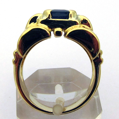 bague or saphir nacre 703 bijou de style art d co bijoux anciens paris or. Black Bedroom Furniture Sets. Home Design Ideas