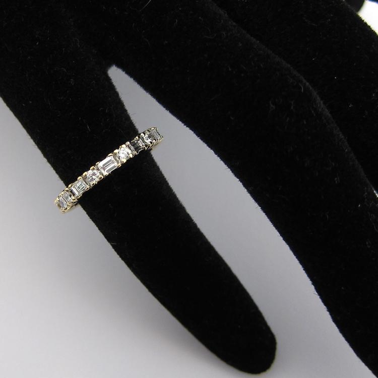 Alliance de mariage - Alliance or diamants 1122