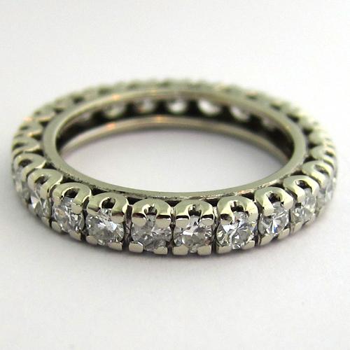... DE MARIAGE - Alliance diamants occasion 1006 - Bijoux anciens Paris 12