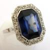 Bague pierre bleue 908