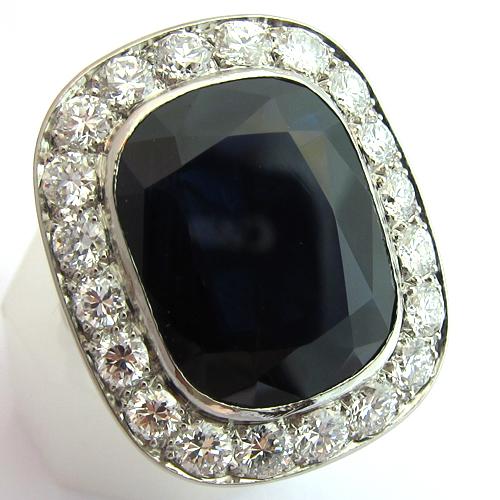 Très BAGUE ART DECO - Bague saphir diamant art déco 1175 - Bijoux  FB96