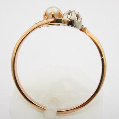 bague or diamants perle bijou ancien toi et moi 510 bijoux anciens paris or. Black Bedroom Furniture Sets. Home Design Ideas