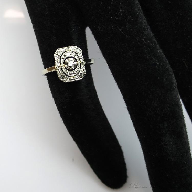 Souvent Bague diamant art déco 1543 LM95