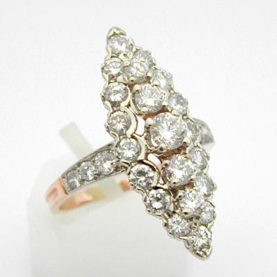 bague diamant losange