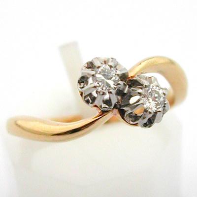 bague or platine diamants toi et moi 502 bijoux anciens paris or. Black Bedroom Furniture Sets. Home Design Ideas
