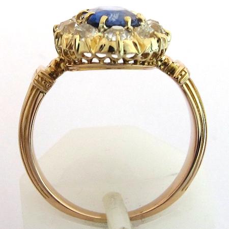 Favori BAGUES 1900 -Bague saphir diamants or rose 1229 - Bijoux anciens  VS38