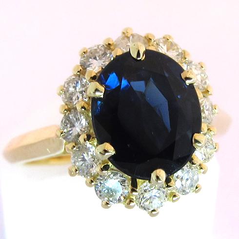 bagues de fiancailles bague or jaune saphir diamants. Black Bedroom Furniture Sets. Home Design Ideas
