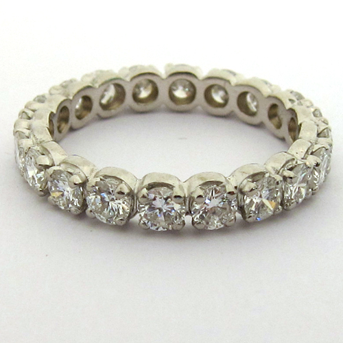 Bague de mariage vintage - Alliance diamants 1101