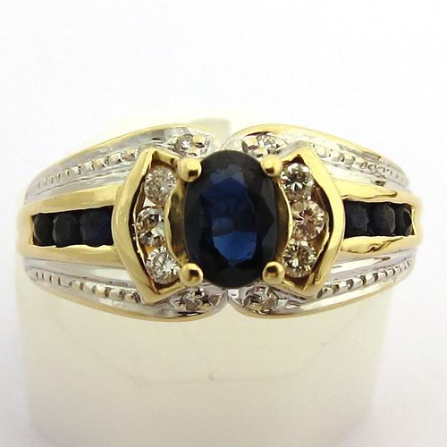 bagues occasion bague saphir diamants or 1001 bijoux anciens paris or. Black Bedroom Furniture Sets. Home Design Ideas