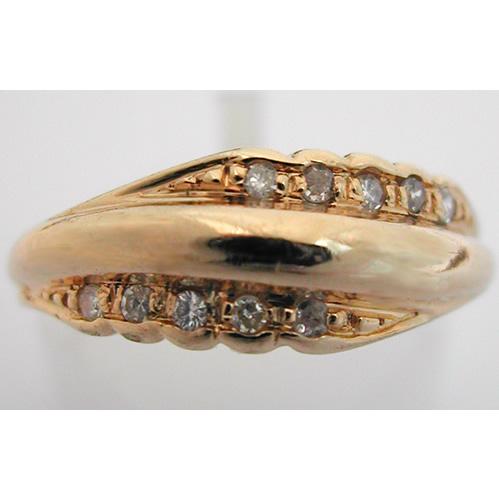 bague or diamants alliance 216 bijoux anciens paris or. Black Bedroom Furniture Sets. Home Design Ideas