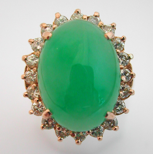 bague or jade diamant 263 bijoux anciens paris or. Black Bedroom Furniture Sets. Home Design Ideas