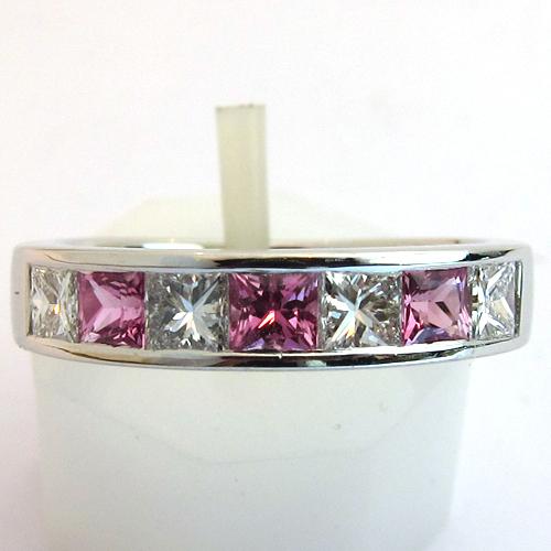 beaux bijoux occasion paris bague saphir rose diamants or blanc 1273 bijoux anciens paris or. Black Bedroom Furniture Sets. Home Design Ideas