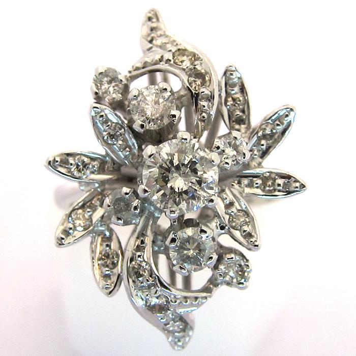 bijoux 1960 bague or blanc diamants 1399 bijoux anciens paris or. Black Bedroom Furniture Sets. Home Design Ideas
