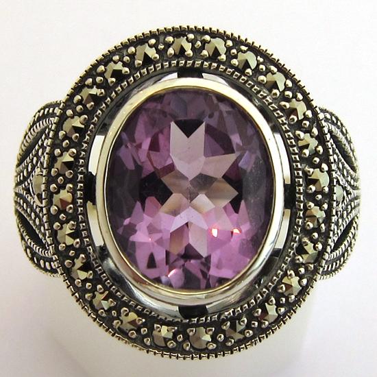 bijoux argent am thyste bague argent am thyste 332 bijoux anciens paris 12. Black Bedroom Furniture Sets. Home Design Ideas