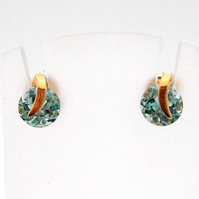 boucles d oreilles or topaze 95 bijoux d occasion bijoux anciens paris or. Black Bedroom Furniture Sets. Home Design Ideas