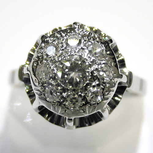 bague ancienne diamants or gris 718 bagues art deco bijoux anciens paris or. Black Bedroom Furniture Sets. Home Design Ideas