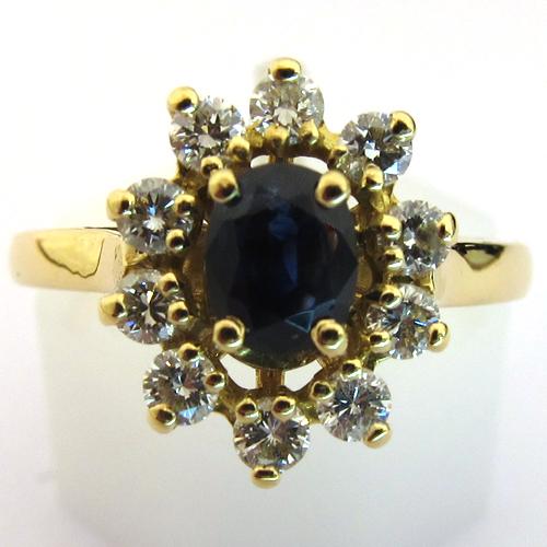 bague de fian ailles pas ch re bague fleur en or saphir diamants 1286 bijoux anciens paris. Black Bedroom Furniture Sets. Home Design Ideas