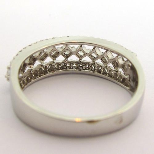 BAGUE DE MARIAGE POUR FEMME - ALLIANCE DENTELLE DIAMANTS 986