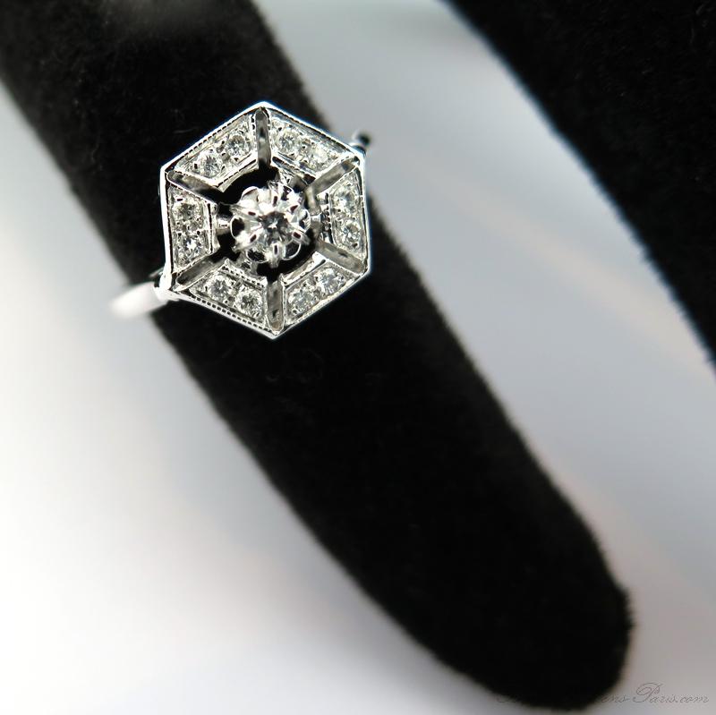 Favori Art Déco - Bague diamants de style art déco 1654 EP78