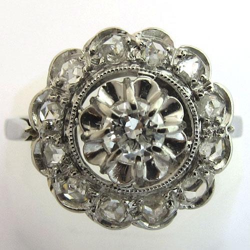 bague fleur ancienne 1406 bijoux anciens paris. Black Bedroom Furniture Sets. Home Design Ideas