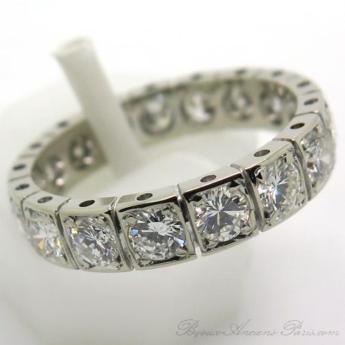 bague mariage vintage alliance diamants or blanc 1883 bijoux anciens paris. Black Bedroom Furniture Sets. Home Design Ideas