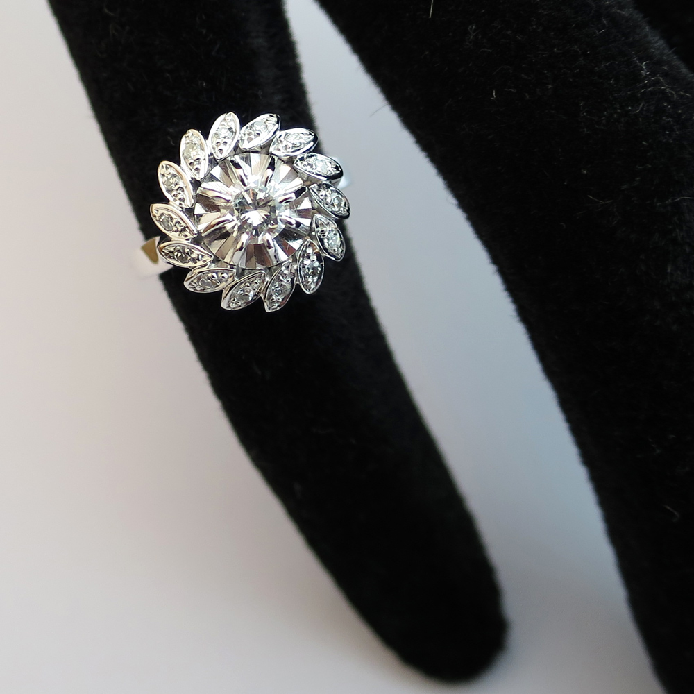 bague diamant forme marguerite
