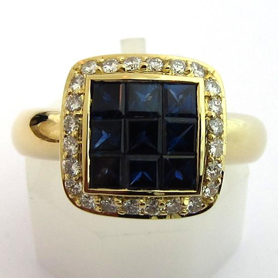 bijoux modernes occasion bague saphir diamant or 963 bijoux anciens paris or. Black Bedroom Furniture Sets. Home Design Ideas