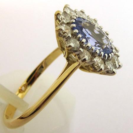 bague saphir bleu clair 1162 bijoux anciens paris or. Black Bedroom Furniture Sets. Home Design Ideas