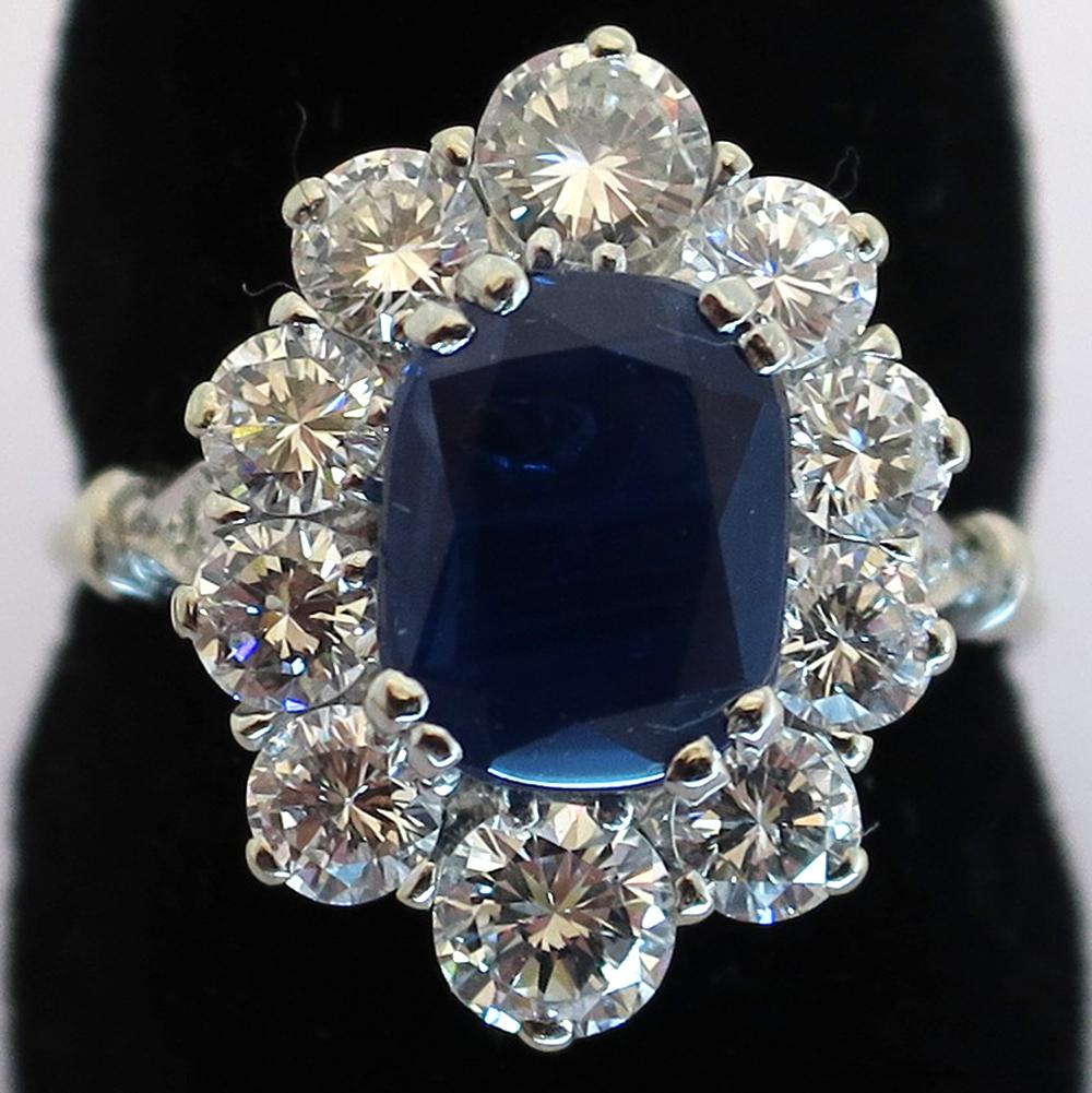 bagues haut de gamme bague saphir entourage diamants. Black Bedroom Furniture Sets. Home Design Ideas