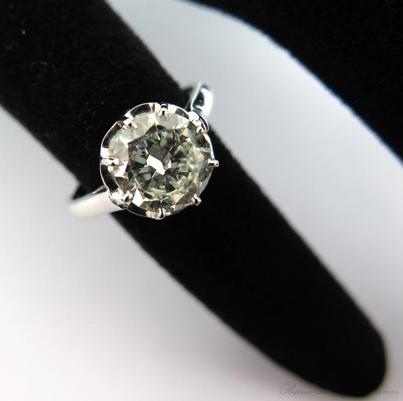 Diamant de plus de deux carats – Bague diamant 2 08ea26c5ec9b
