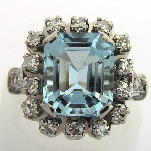 bijoux anciens aigue marine bague platine aigue marine diamants bijoux anciens. Black Bedroom Furniture Sets. Home Design Ideas