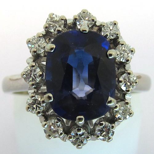 bijoux anciens paris bague pierre bleue 1341. Black Bedroom Furniture Sets. Home Design Ideas