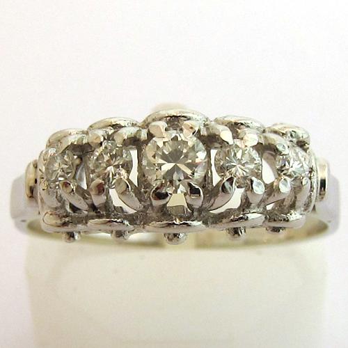 bagues diamants occasion bague diamants or blanc 953 bijoux anciens paris. Black Bedroom Furniture Sets. Home Design Ideas
