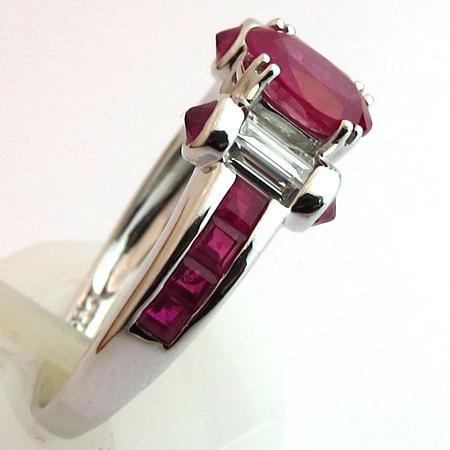 bagues occasion paris bague rubis diamant d 39 occasion 1130 bijoux anciens paris. Black Bedroom Furniture Sets. Home Design Ideas