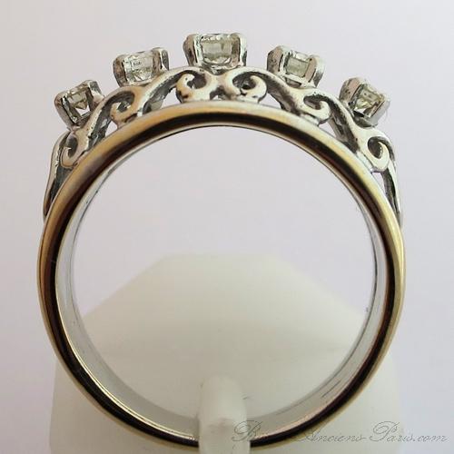 bijou vintage d occasion paris bague cinq diamants en ligne 1571 bijoux anciens paris. Black Bedroom Furniture Sets. Home Design Ideas