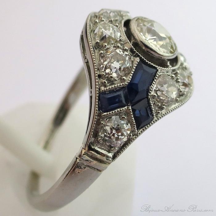 bijoux anciens bague d 233 co diamants monture platine 1536