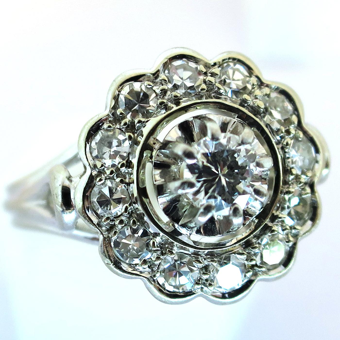 bijoux anciens occasion bague diamants ancienne forme. Black Bedroom Furniture Sets. Home Design Ideas