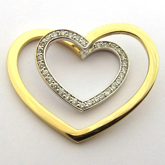 bijoux or occasion paris coeur en or et diamants 213 bijoux anciens paris or. Black Bedroom Furniture Sets. Home Design Ideas