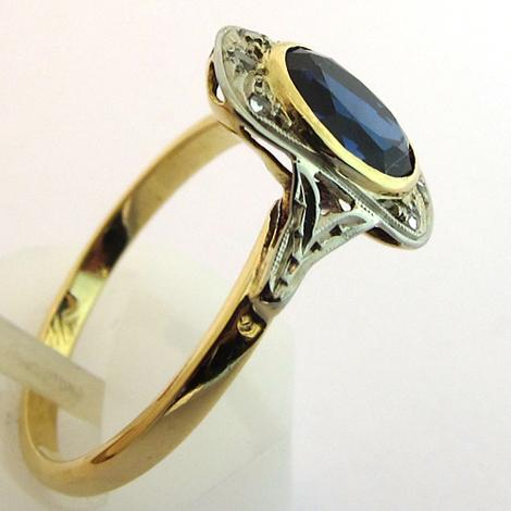 bague ancienne pierre bleue 1274 bijoux anciens paris. Black Bedroom Furniture Sets. Home Design Ideas