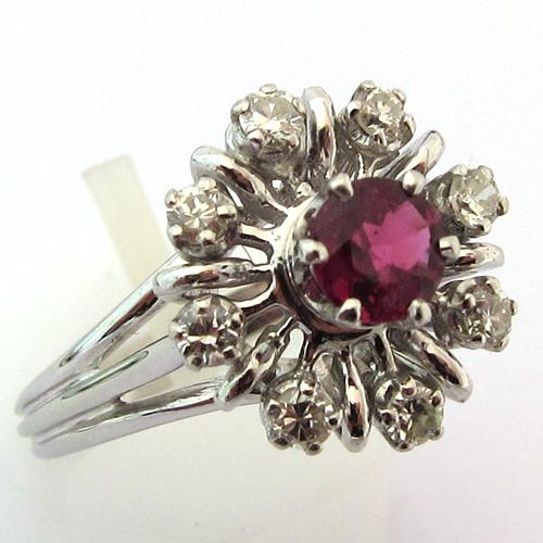 bijoux en or occasion bague or blanc rubis diamants 897 bijoux anciens paris or. Black Bedroom Furniture Sets. Home Design Ideas
