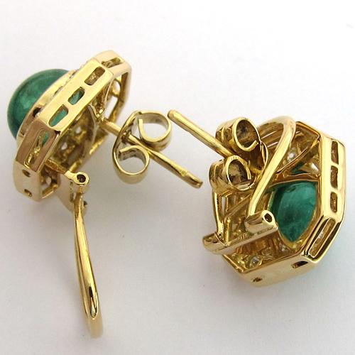bijoux anciens paris boucles d 39 oreilles or meraude diamants 167. Black Bedroom Furniture Sets. Home Design Ideas