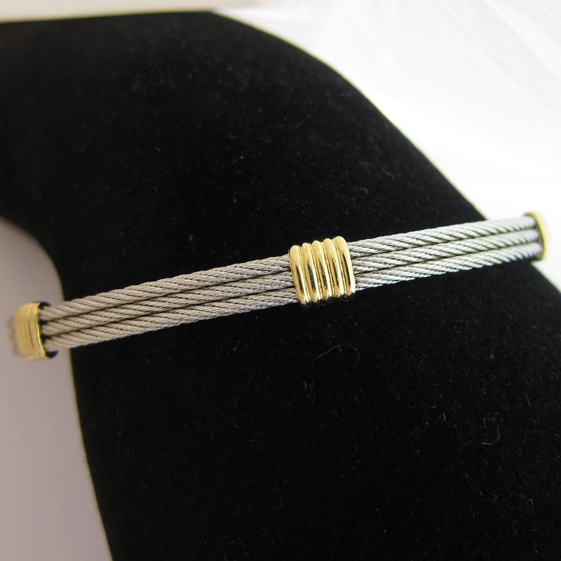 bracelet jonc de marque fred collection force 10 174 bijoux anciens paris or. Black Bedroom Furniture Sets. Home Design Ideas