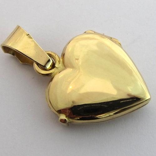 Coeur en or pendentif porte photo 265 bijoux anciens paris for Porte and or