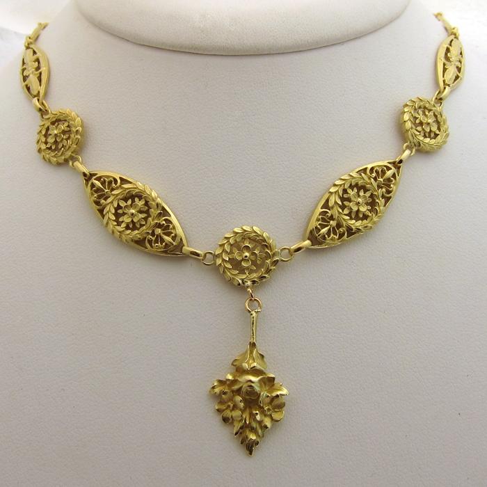 Assez Bijor : Bijoux anciens en or : Colliers - page 1 LI53
