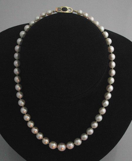 collier perles de culture 10 bijoux anciens paris or. Black Bedroom Furniture Sets. Home Design Ideas