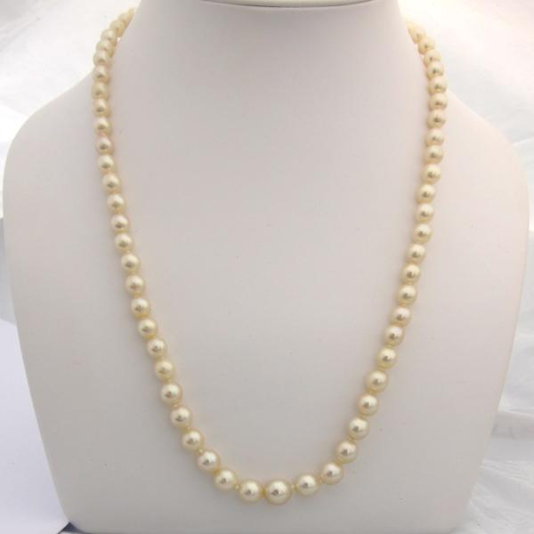 collier perles de culture 115 bijoux anciens paris or. Black Bedroom Furniture Sets. Home Design Ideas
