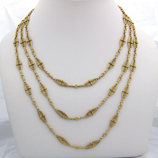 collier ancien or jaune 117 bijoux anciens paris bijoux anciens paris or. Black Bedroom Furniture Sets. Home Design Ideas