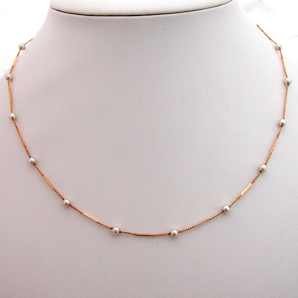 collier or perles de culture 88 bijou vintage bijoux anciens paris or. Black Bedroom Furniture Sets. Home Design Ideas