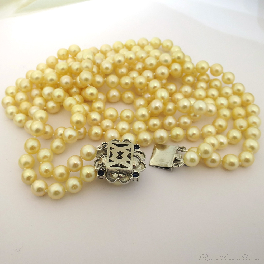 achat d 39 or et bijoux paris 5 collier de perles akoya. Black Bedroom Furniture Sets. Home Design Ideas